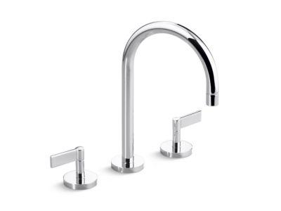 Sink Faucet, Gooseneck Spout, Lever Handles