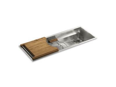 "45"" Stainless Steel Kitchen Sink with Deluxe Accessories"