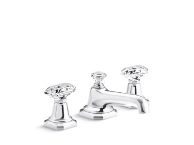 Sink Faucet, Clear Crystal Handles