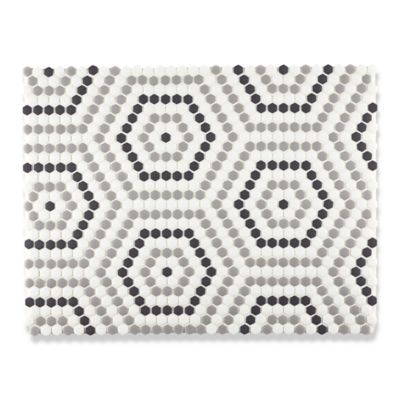Kodra Concentric Hex mosaic in cloud, smoke, flint