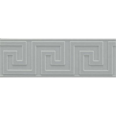 "2-1/8"" x 6"" greek key decorative tile in hudson blue matte"