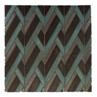chev mosaic in peacock blend