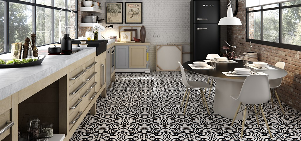 Made To Look Like Encaustic Tiles That Have Graced The Floors Of European And Moroccan Buildings For Centuries Our Porcelain Los Jardines Flooring Is