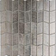 Lucian Metallics Polygon mosaic in Pewter