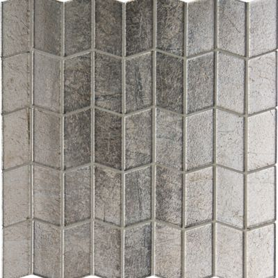 Lucian Metallic Polygon mosaic in Pewter