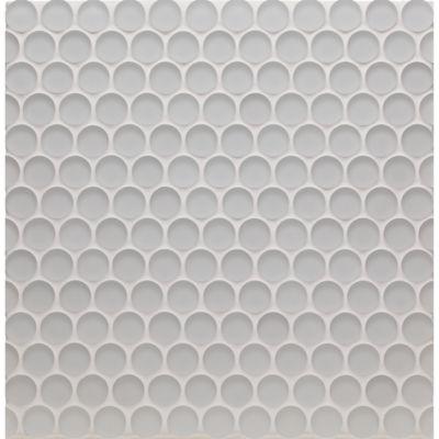 """3/4"""" penny mosaic in oxygen matte"""