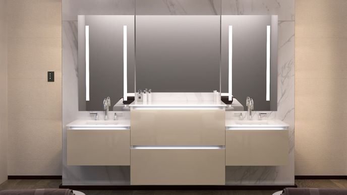 Modular Design Allows You To Combine Mirrors And Cabinets Perfectly Suit Any Room E Lifestyle