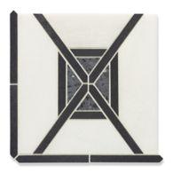 Loire mosaic in lorca white, castlerock and amsterdam