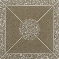 "12-1/8"" x 12-1/8"" architectonic field in camel with white and grey marble"