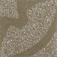 """12-1/8"""" x 12-1/8"""" barcelona field in camel with white and grey marble"""