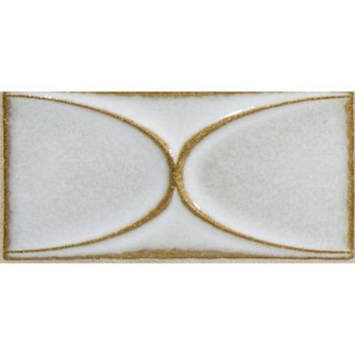 "2-9/10"" x 6"" center oval field in veil"