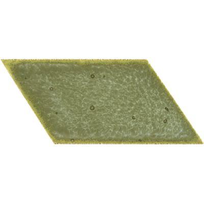 """2"""" x 3"""" parallelogram left field in verdigris copper"""