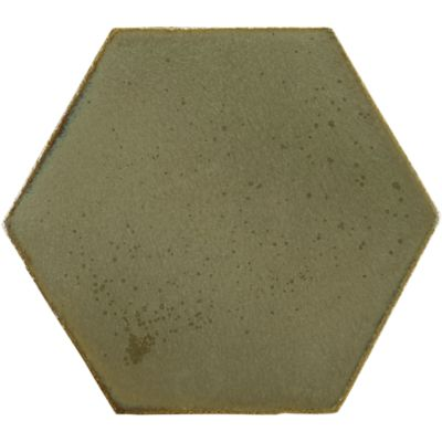 "8"" x 8"" hexagon field in verdigris copper"