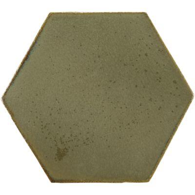 """8"""" x 8"""" hexagon field in verdigris copper"""