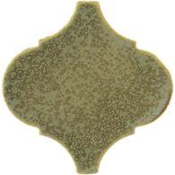 """6-1/8"""" x 6"""" arabesque field in verdigris copper"""