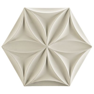"15-7/8"" x 18-1/4"" flora hex field in white"