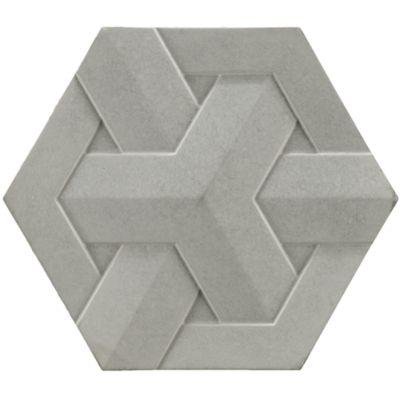 """8-1/2"""" x 10"""" geo weave small field in light grey"""