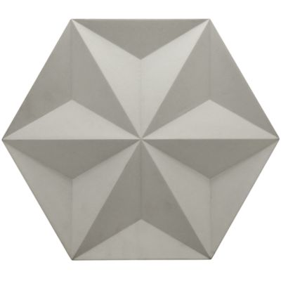 "15-7/8"" x 18-1/4"" japanese geo field in white"