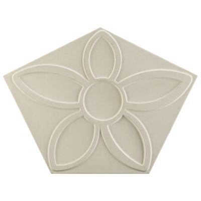 "16-7/8"" x 12-5/8"" penta flora field in white"