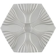 """11"""" x 9-3/4"""" optic flow field in new white"""