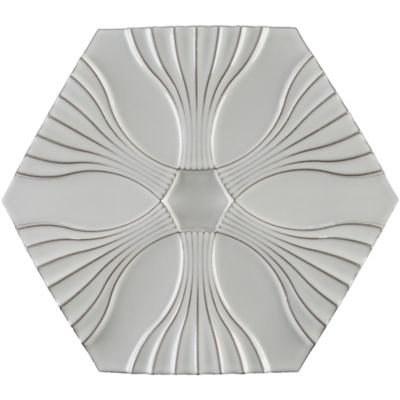 "11"" x 9-3/4"" optic flow field in new white"