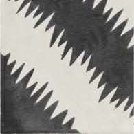 "7-7/8"" x 7-7/8"" zigzag field in kohl and milk"