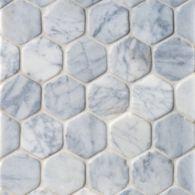 Hexagon Mosaic in Carrara