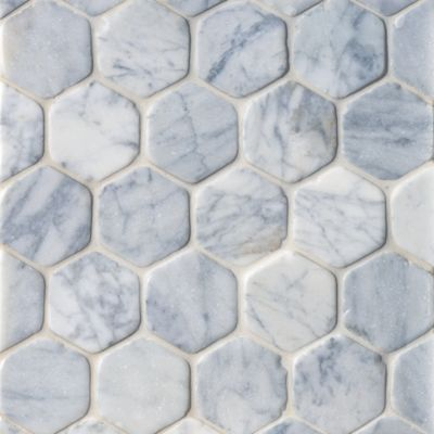 Hexagon Mosaic in Carrara