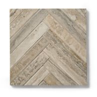 Herringbone mosaic in a honed finish