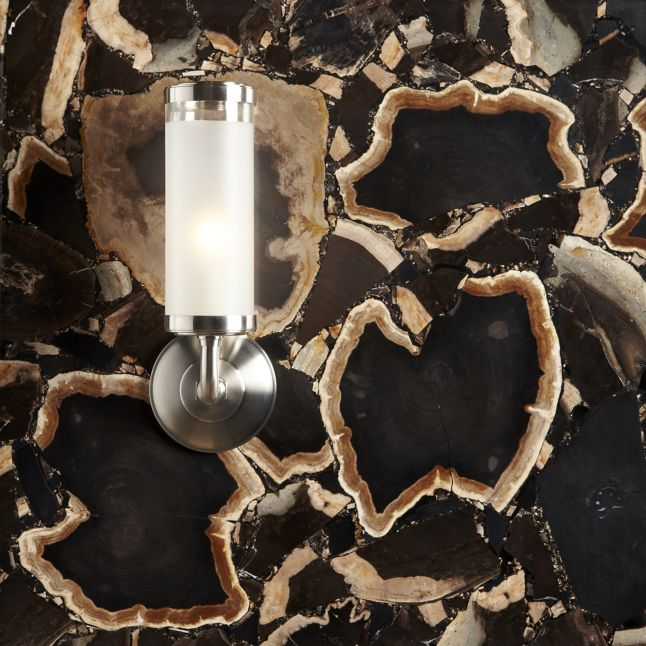 "24"" x 48"" log field in polished porto with KALLISTA Michael S Smith For Loft sconce"