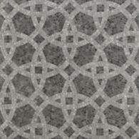 tesselation mosaic with dark marrone marble in polished finish, athens silver cream marble in honed finish and athens grey marble in honed finish