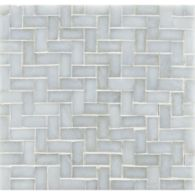 "3/4"" herringbone mosaic in bluemoon irid"