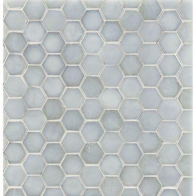 "3/4"" hexagon mosaic in bluemoon irid"
