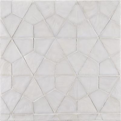 segmented hex mosaic in whitecap non irid