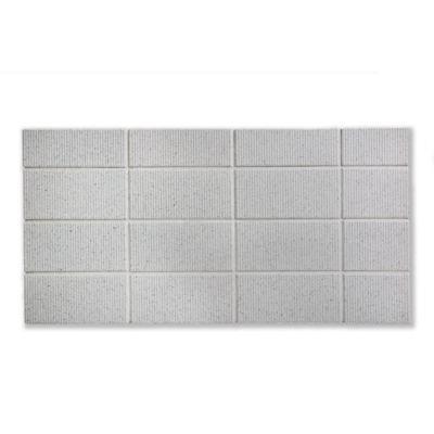 """Rake 2"""" x 4"""" tiles in Linen on a 7"""" x 14"""" board"""