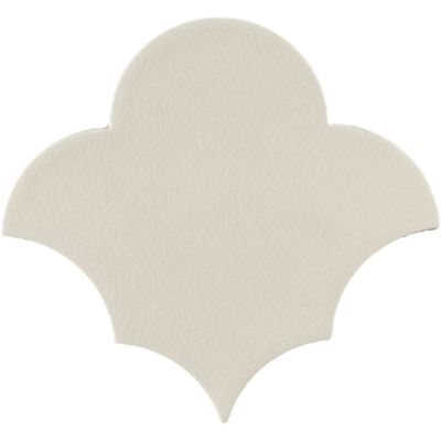"5-7/8"" x 5-7/16"" scallop field in cream crackle"