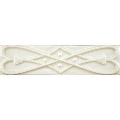 "2"" x 8"" finial ribbon border trim in cream crackle"