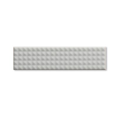 "Dimension 2""x8"" field tile in white stud"