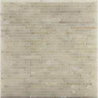 "3/8"" random mosaic in white onyx"