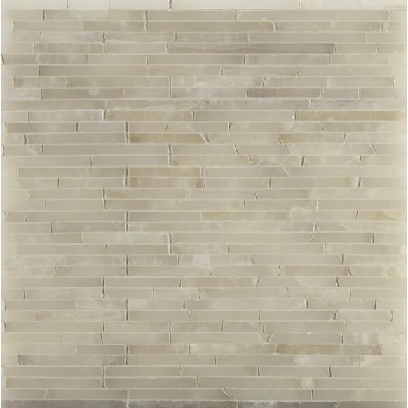 3 8 Random Mosaic In White Onyx