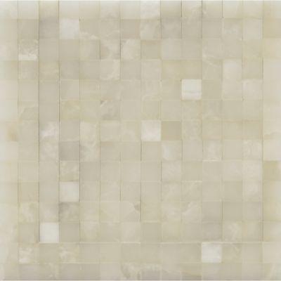 Santos Mosaics Ann Sacks Tile Stone 1x1 Pearl White Onyx