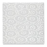 """Insho Flowers 6"""" x 6"""" field in white"""