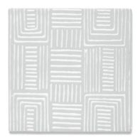 "Insho Lines 6"" x 6"" field in white"