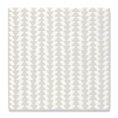 "Insho Triangles 6"" x 6"" field in white"
