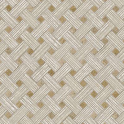 cestino mosaic in botticino and noce