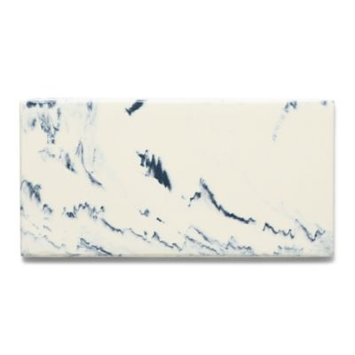"""3"""" x 6"""" field in marbled white/blue"""