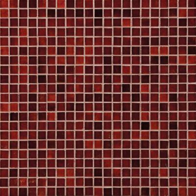 waterglass mosaic in crimson