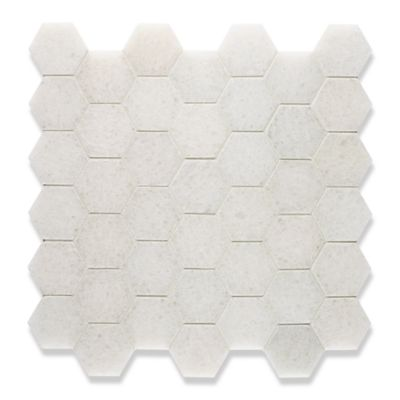 Hexagon mosaic in a polished finish