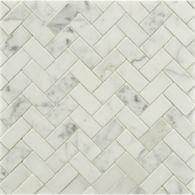 large herringbone mosaic in honed finish