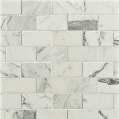"""1-1/2"""" x 3"""" offset mosaic in honed finish"""